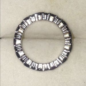 Jewelry - NWOT*Sterling Silver Black Spinel Eternity Band